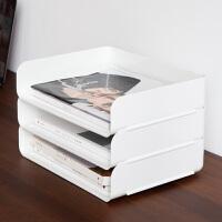 百露办公室文具件夹桌面收纳盒抽屉式资料用品置物架收纳架抽拉式