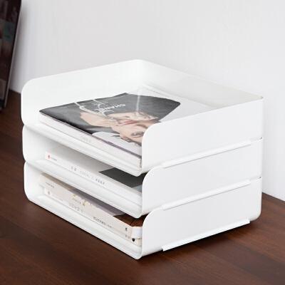 百露办公室文具件夹桌面收纳盒抽屉式资料用品置物架收纳架抽拉式 回馈顾客 活动不停 全场5折