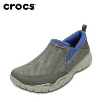 【2双3折】Crocs卡洛驰休闲鞋男鞋透气网面鞋套脚驾车鞋|202548 激浪酷网墨客鞋