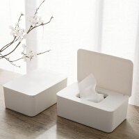 湿纸巾盒桌面密封湿巾收纳盒家用防尘带盖湿纸巾盒子抽纸盒