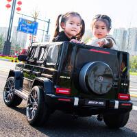 奔驰大g儿童电动汽车双人小孩超大越野四轮遥控宝宝玩具车可坐人