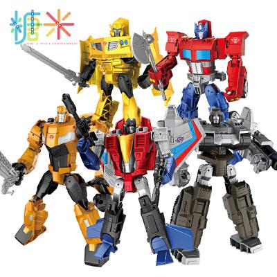 糖米 合金变形金刚大黄蜂红蜘蛛机器人男孩恐龙汽车模型手办正版玩具