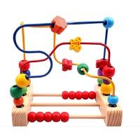 大号1-2益智力绕珠串珠八音琴套装婴儿童玩具宝宝积木2-3岁