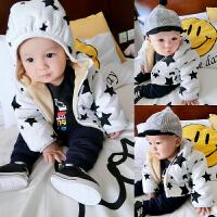 宝宝衣服冬季0岁9月童新生儿棉衣外套婴儿加厚保暖外出服