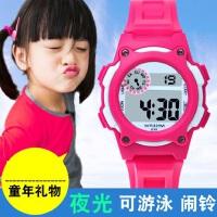 新款运动防水学生手表女 儿童夜光防水手表 儿童表男孩电子表女孩多彩果冻色手表