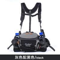 运动腰包户外男多功能骑行背包防水双肩旅游女大容量水壶腰包登山 黑色