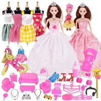 乖乖芭比单个换装公主仿真洋娃娃套装礼盒女孩婚纱礼服过家家玩具 XXS-20_17