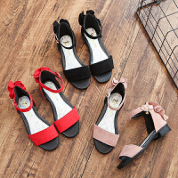女童小高跟凉鞋2018夏季韩版新款儿童凉鞋露趾公主鞋学生舞蹈鞋潮