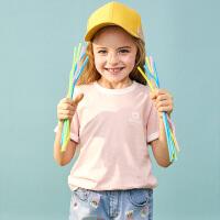 【3件3折到手价:46】小猪班纳童装男童女童圆领上衣纯色2020夏季新款儿童短袖T恤纯棉