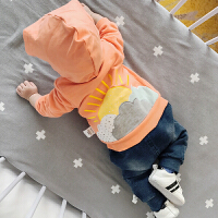 婴儿秋季衣服新生幼儿上衣男女幼儿长袖外套宝宝绣花外出服潮