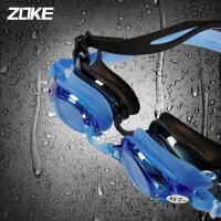 ZOKE近视泳镜高清防雾防水时尚平光带度数游泳镜男女游泳眼镜