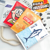 韩国文具笔盒男女生简约零食文具袋创意学生韩版大容量铅笔袋