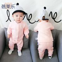 婴儿装女童家居套装1岁6个月宝宝长袖新生儿内衣春款两件套
