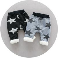宝宝加绒裤子男1-3岁可开档婴儿裤子冬季保暖加厚棉裤小小童裤子
