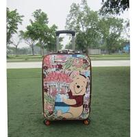 行李箱男学生潮皮箱子韩版行礼箱卡通旅行箱小清新拉杆箱女24寸20SN7658