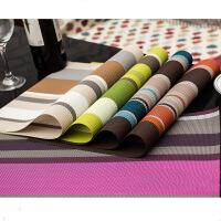 彩色条纹PVC特斯林餐垫 酒店餐垫 餐厅餐垫 橙色