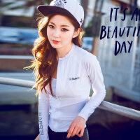 韩版春秋健身瑜伽服户外运动外套长袖修身罩衫夹克速干跑步上衣女