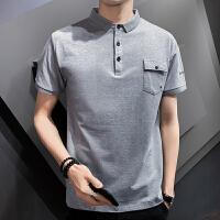 夏季Polo衫男士短袖T恤休�e�棉翻�I��松男�b