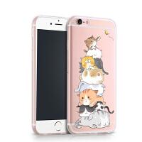 景为 iPhone6手机壳苹果6s硅胶套平果六透明个性创意ipone6新女款