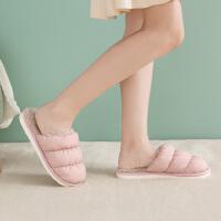 时尚云朵拖鞋家用秋冬室内家居保暖居家厚底棉拖鞋女可爱情侣
