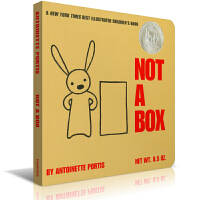 Not a Box 不止是个盒子 纸板书 吴敏兰推荐绘本123 第36本 美国TOP百本必读绘本书籍 苏斯奖 卡板书 从大山到火箭飞船 小兔子的想象力让盒子不仅仅是盒子那么简单 送音频