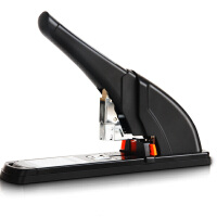 得力订书机 0385 加厚重型订书器 240页大订书机厚层大型长臂大码 省力型