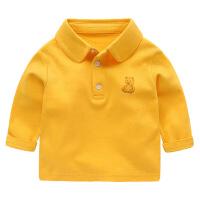 婴儿POLO衫长袖T恤春夏儿童男童宝宝女打底春装小童上衣幼儿