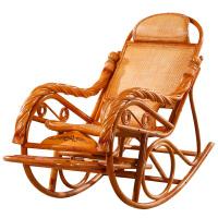真藤摇椅逍遥椅老人椅子懒人躺椅印尼藤编实木休闲阳台午睡椅