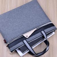 文件包手提文件袋帆布资料袋拉链袋公文包女办公包会议袋印刷定制