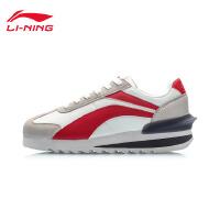 李宁休闲鞋女鞋2019新款轻质休闲板鞋女士低帮运动鞋AGCP256