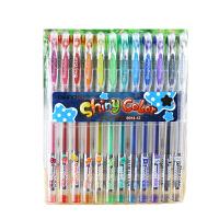 爱好 12色闪亮中性笔0.5mm 8914-12可爱笔靓丽荧光笔创意闪光笔儿童亮晶晶彩色笔卡通涂鸦笔手账专用笔特殊标记