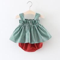 2018夏季婴儿洋气套装女宝宝夏天衣服女童公主裙子1婴幼儿夏装3岁