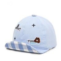 户外儿童棉布帽子男女童时尚鸭舌帽宝宝翘舌帽小孩遮阳棒球帽
