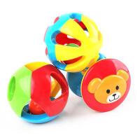 婴儿儿童玩具0-1岁儿童益智五彩感官球铃铛球手抓球6-12个月宝宝玩具三件装
