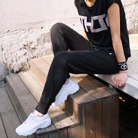 薄款运动裤女长裤宽松束脚速干健身裤高腰训练跑步瑜伽裤春夏