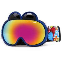 儿童滑雪镜 双层防雾小童雪镜 户外运动男女童滑雪眼镜