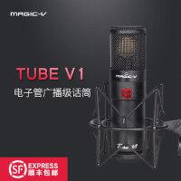 Magic-V tube V1玛西亚电子管大振膜电容麦克风话筒外置声卡套装
