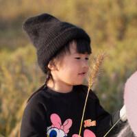 儿童帽子女公主男女童韩版潮加厚护耳男女孩针织宝宝帽子