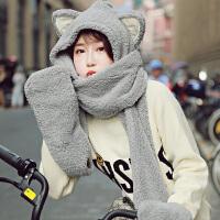围巾女冬季韩版女学生秋冬日系围脖百搭新款加厚脖套女士帽子一体