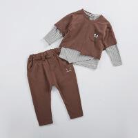 2018春款儿童春装男童女童运动套装宝宝2小童洋气时尚衣服1-3岁潮