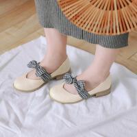韩版中大童儿童休闲女童皮鞋可爱蝴蝶结秋季童鞋小女孩公主高跟鞋