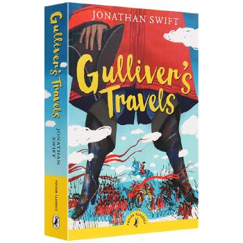 正版现货 格列佛游记 英文原版小说 经典文学名著 Gulliver's Travels 乔纳森斯威夫特 Puffin Classics 英文版进口英语书籍 内容无删减《碟形世界》作者作序 印刷清晰