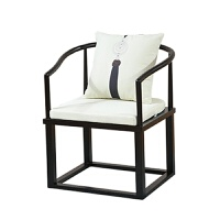 新中式实木太师椅单人简约茶桌椅禅意主人椅家用茶室会所休闲圈椅 椅子1 运费到付