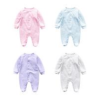 女婴儿连体衣服秋冬季0岁3个月男宝宝4冬装潮款新生儿衣服外出服