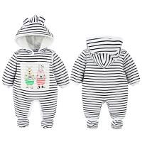 婴儿连体衣服宝宝新生儿0长袖2个月季5满月3春装可爱冬季