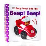 顺丰发货 英文原版DK儿童触摸书 DK Baby Touch and Feel Beep! Beep! 早教触摸绘本