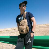 单肩包男斜挎胸包帆布斜跨潮包多功能运动挂包小背包休闲户外腰包SN0607 蓝色