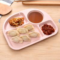 小麦秸秆餐盘儿童餐具分格辅食训练零食沙拉米饭碗面条碗餐盘快餐盘分隔盘早餐盘