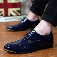 米乐猴 潮牌春夏新款克罗心英伦风男鞋潮流韩版休闲鞋时尚发型师亮面尖头皮鞋