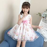女童裙子2018新款�和�夏�b洋�獗承墓�主裙女大童夏季�n版�B衣裙潮 白色